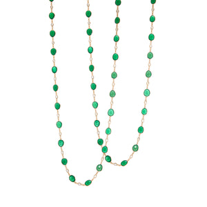 Necklace - Green Onyx & Moonstone