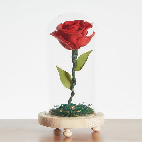 Classic Rose Glass Dome