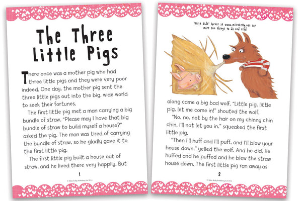 It's just a graphic of Zany Three Little Pigs Story Printable