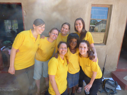 Miles Kelly team in Africa with the Charity, The Book Bus.