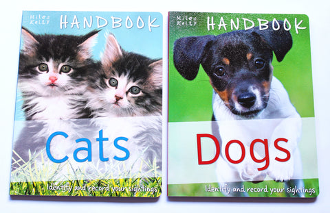 Cats Handbook & Dogs Handbook – New identification guides for kids – Miles Kelly
