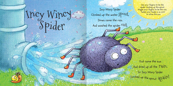 My Rhyme Time Incy Wincy Spider and other playing rhymes - Miles Kelly  - 2