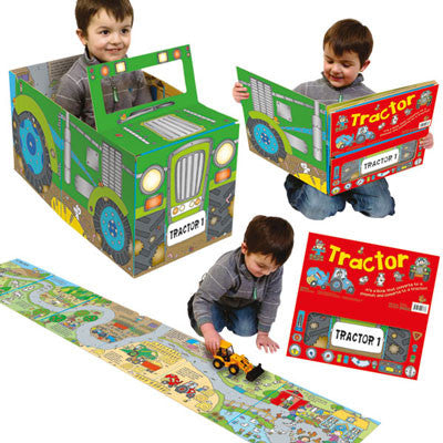 Convertible Tractor Farm Play Mat Amp Convertible Book