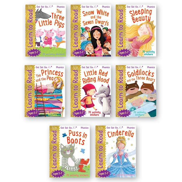 Get Set Go Learn to Read: 8-Book Set With Poster