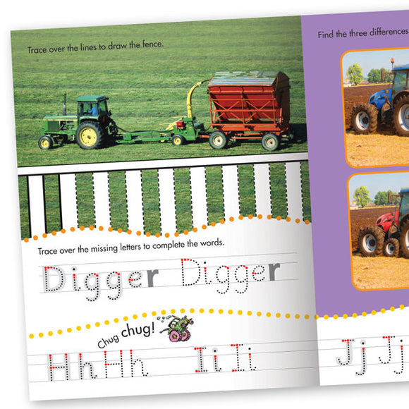 Get Set Go Writing: Tractors and Diggers