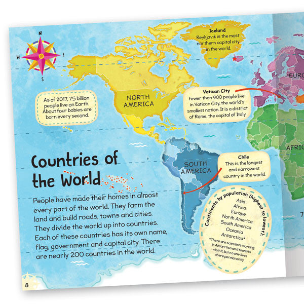 First atlas early learning book for kids miles kelly first atlas gumiabroncs Image collections