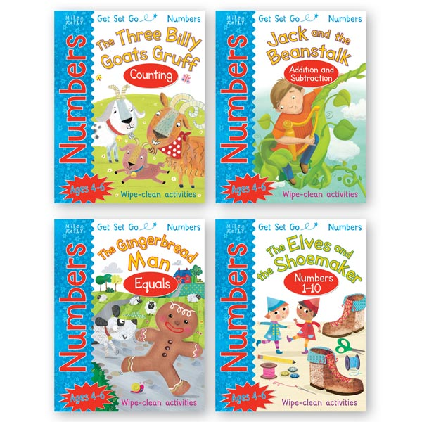 Get Set Go Numbers: 4-book set