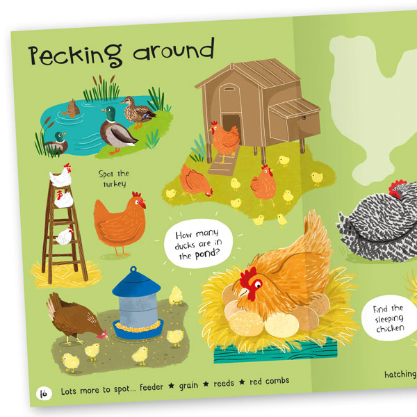 Lots to Spot: On the Farm! Sticker Book
