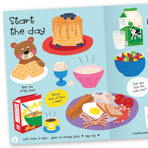 Lots to Spot: My Food! Sticker Book