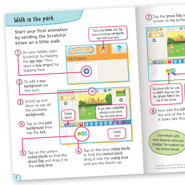 Get Set Go Coding: Animation and Stories (ScratchJr)