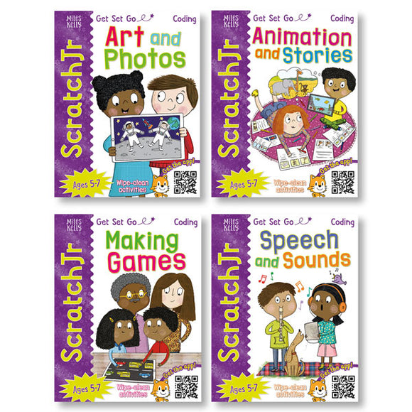 Get Set Go Coding ScratchJr: 4-book set