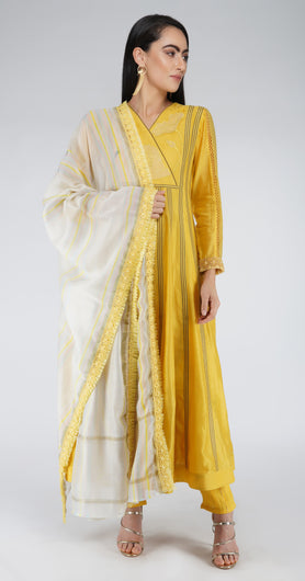 Angrakha Anarkali Suit