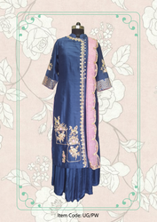Pinjra Wala Straight Suit With Sharara