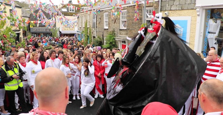 Padstow is famous for Obby Oss, a May Day festival!
