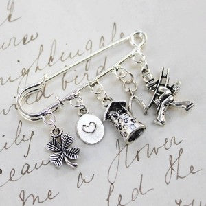Wedding Gifts For Good Luck : Good luck on your wedding day brooch.Karen Wanless trading as ...