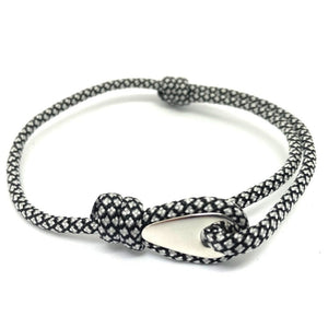 Adjustable Rope Bracelet For Men And Women Black and White Colour. Vegan and Ethical Rope Bracelet