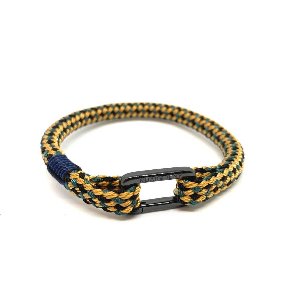 Rope Bracelet With Black O Shackle For Men And Women With a Blue Binding. Zamsoe