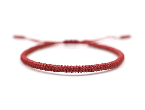 Tibetan Chinese handmade braid snake knot rope Buddhist lucky bracelet For Men And Women Red Zamsoe