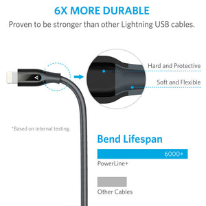 Anker PowerLine+ Lightning 3ft with Double-Braided Nylon Exterior