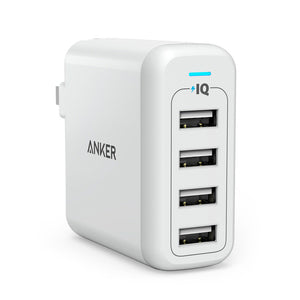 Anker PowerPort 4 40W 4-Port Foldable Wall Charger