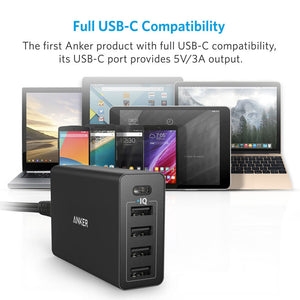Anker PowerPort+ 5 USB-C with USB Power