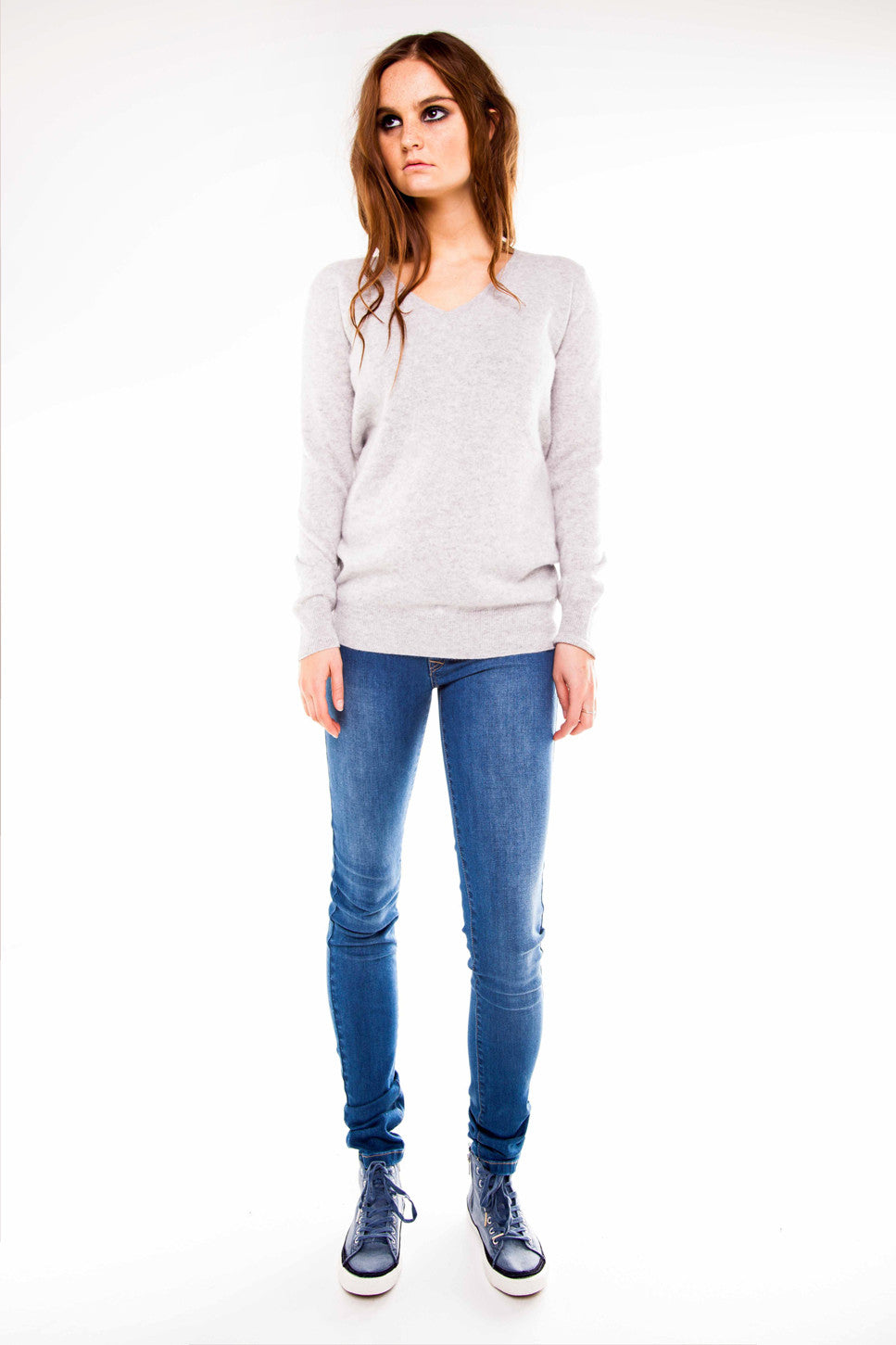 The Cashmere V Neck Knit