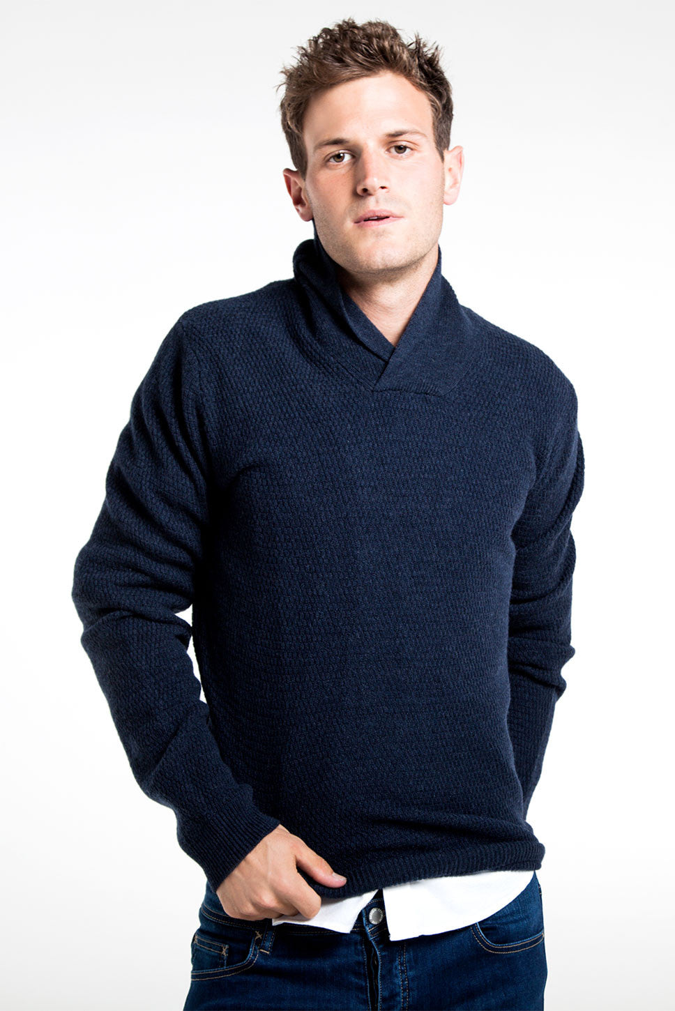 The Shawl Collar Knit