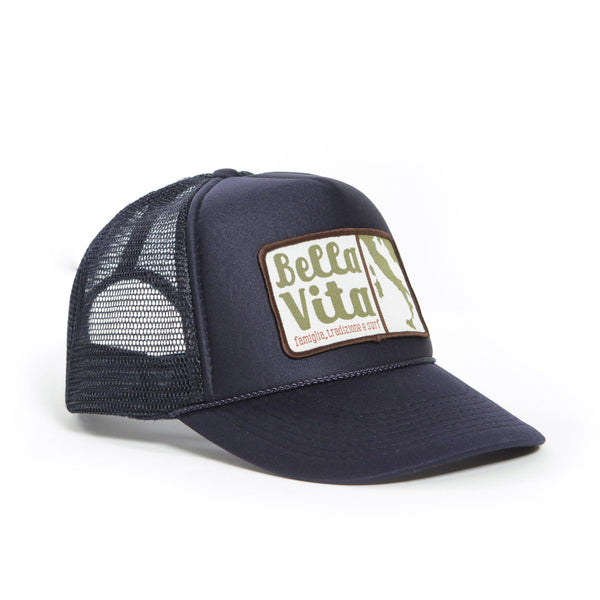 Bella Vita - Trucker Patch Hat (Navy)