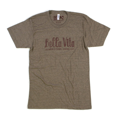 Bella Vita - Men's Tri-Blend Track Tee (Coffee)