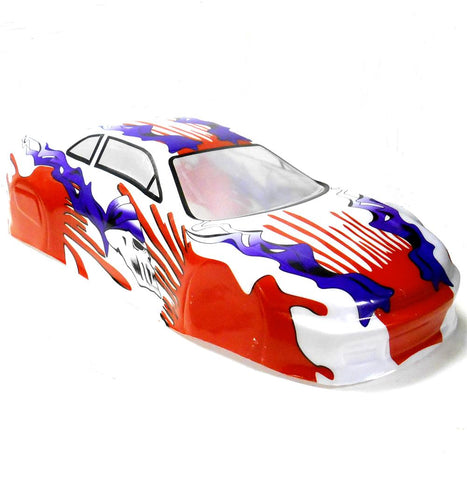 01015 1/10 Scale Drift Touring Car Body Cover Shell RC Yellow Uncut