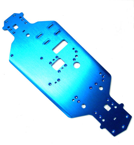 02001 Blue 1/10 Scale Alloy Aluminium Chassis Plate