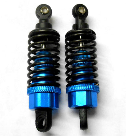 02002B 1/10 RC Car Plastic Shock Absorber Dampers 60mm Blue x 2