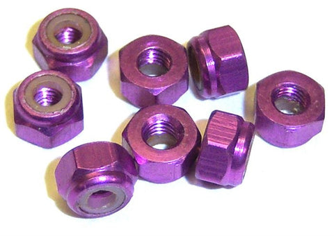 02191 102048 1/10 RC Car Alloy M3 Lock Nut x 4 Purple