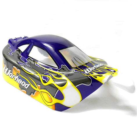06027 10074 Off Road Nitro RC 1/10 Buggy Body Shell Purple Flame Cut