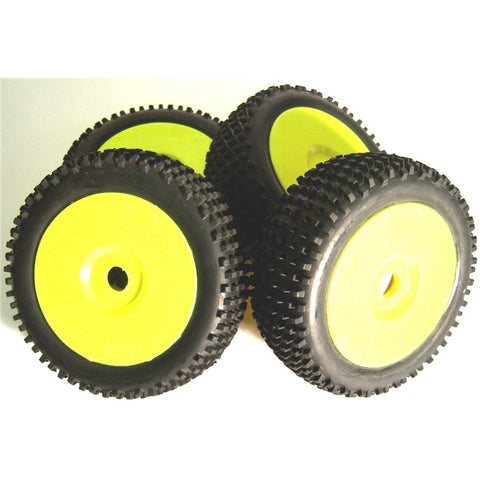 B7034Y RC Nitro Buggy 1/8 Off Road Wheels and Tyre 17mm Yellow 4