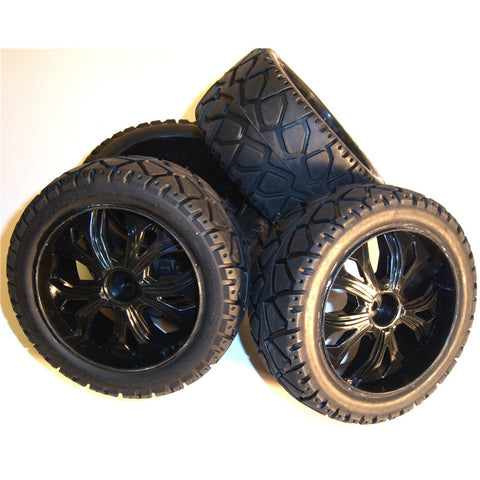 BS937-001/2 1/10 Scale RC Buggy Street Wheel Tyre 2 Front / Rear Black
