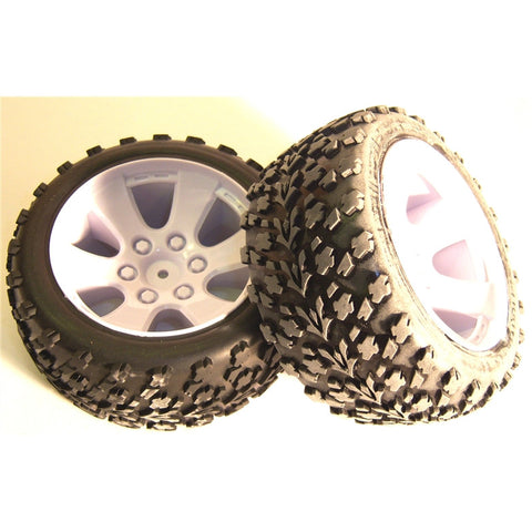 BS903-001 1/10 Scale Off Road Buggy Wheels and Tyres 2 White