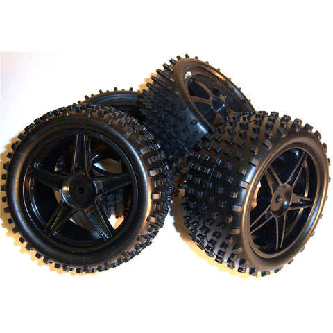11400/11401 1/10 Scale Off Road Buggy Wheels and Tyres Front & Rear