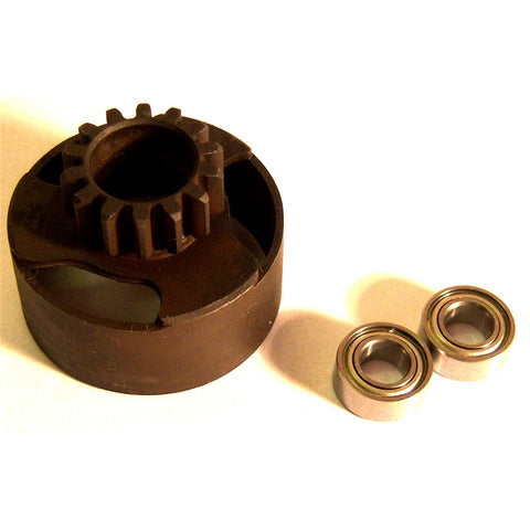 Vented Clutch Bell Housing 16 Tooth 16T + Bearings