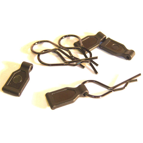 SGF-2BK 1/10 1/8 Medium Black Body Clips x 4 with Grips