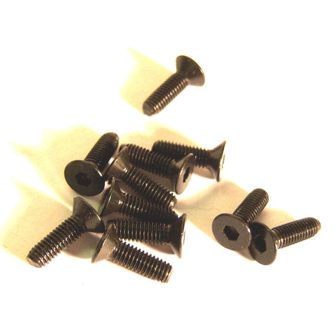 M3 x 12mm 3 x 12 Black Inner Hex Flat Socket Screw x 10