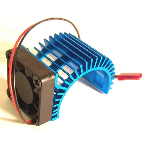 AH014 550 540 Motor Cooling Heatsink Heat Sink Vented Aluminium Blue Single Fan
