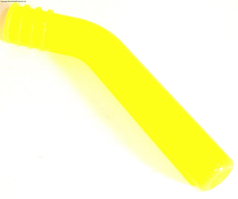 A10003Y 1/10 RC Nitro Car Engine Exhaust Pipe Silicone End Deflector 8mm x 1 Yellow