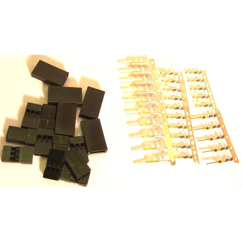 RC JR Set Male and Female Servo Connector Plug Gold Plated x 5