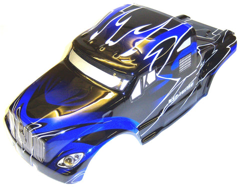 88034 RC 1/10 Scale Monster Truck Body Shell Cover HSP Blue V4 Cut Narrow