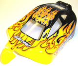 06027 106MA3 Off Road Nitro RC 1/10 Buggy Body Shell Flame Cut