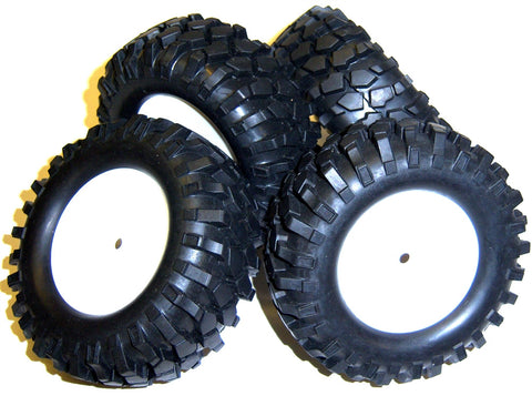 A210001 1/10 Scale Off Road Monster Truck RC Wheels and Tyres White Disc 93mm