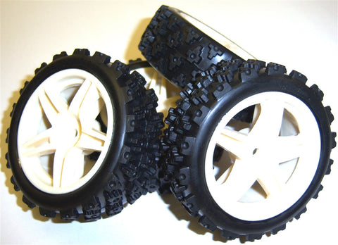 101089 1/10 Scale Off Road Model Buggy Wheels and Tyres x 4 SMT 5 Spoke