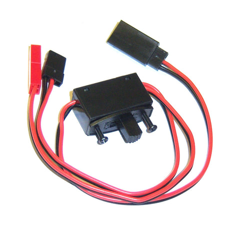 C6011 RC Model Receiver On Off Switch JR Plug 1 x Male / 1 x Female JST + JR