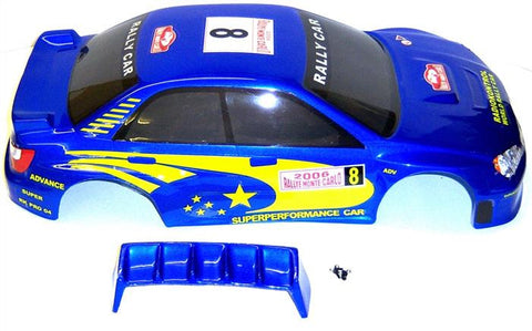 10128 1/10 Scale Drift Touring Car Body Cover Shell RC Navy Blue Cut